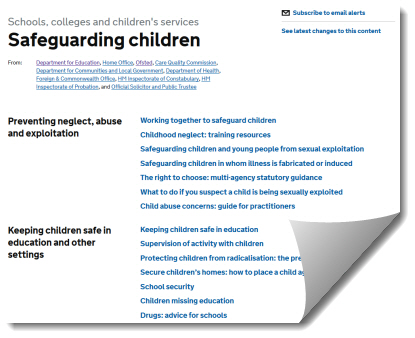 Government Safeguarding Website